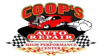Logo, COOP's Auto & High Performance Center